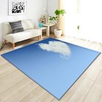 3D Cloud Love Heart Blue Sky Carpets For The Modern Living Room Bedroom Floor Rugs Children's Rug Round Rugs Burrito Blanket Mat