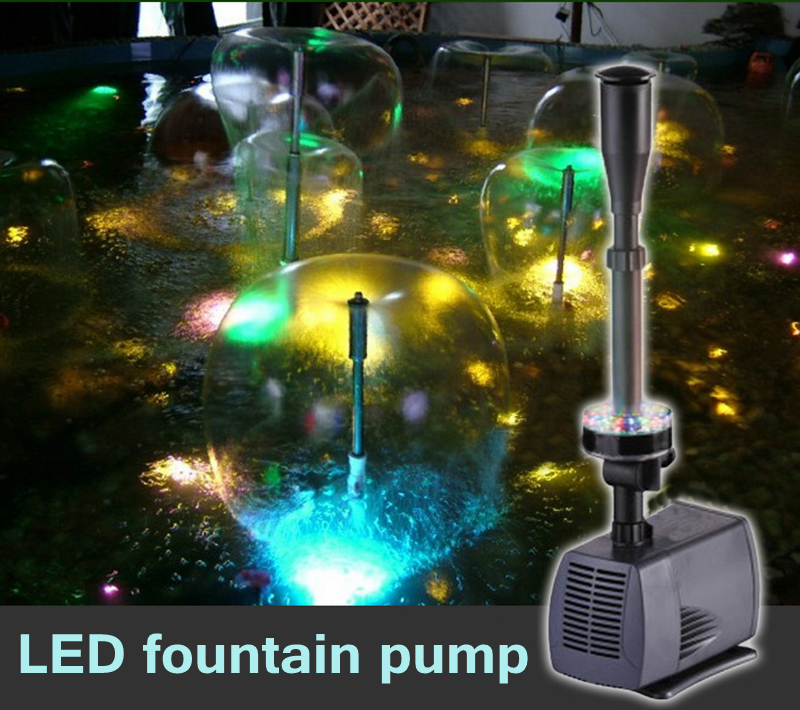 changing LED submersible water pump fountain pump fountain maker 40w 2000L h for fish pond garden