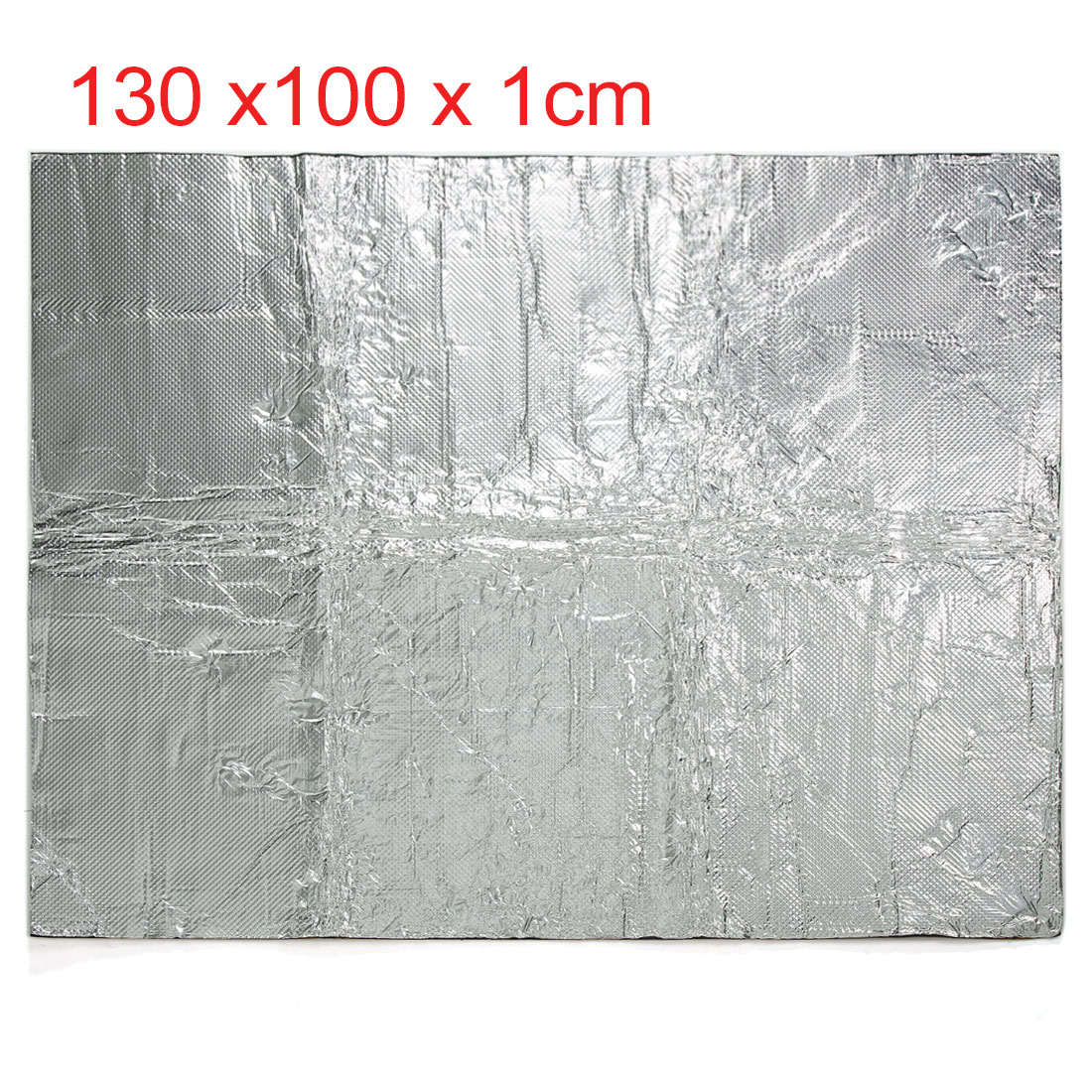Heat Insulation Shield Mat Protector Silver Tone 130X100cm For Car Engine