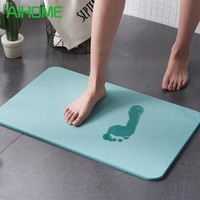 Eco Friendly Diatomite Bath Mat Anti Slip Super Absorb Dry Bathroom Carpet High Efficiency Water Absorption