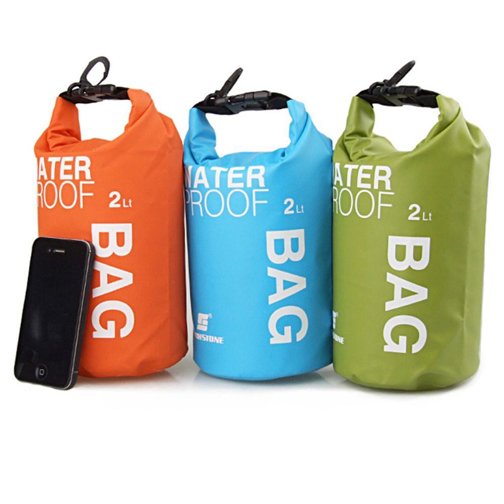 2L Outdoor Waterproof Bags Ultralight Drifting Rafting Canoe Swimming Camping Hiking Dry Bag Travel Organizer Bag