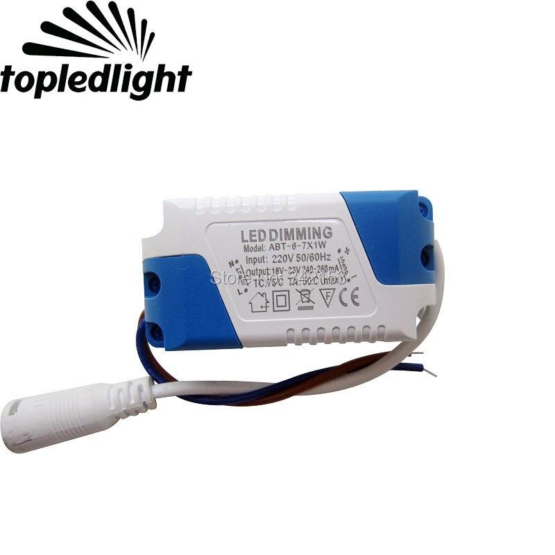 6-7) X 1W Dimming Led Driver Input 220V 110V Output 18-23V 240-260MA ...