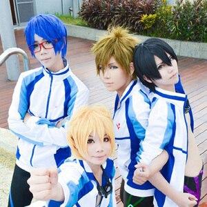 Image 3 - Anime grátis! Iwatobi haruka nanase cosplay traje jaqueta unisex moletom com capuz da escola