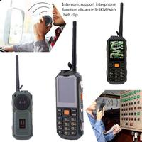 J10 GSM Dual Band Mobile Phone Bluetooth FM Radio Interphone Flashlight Walkie Talkie Mobile Phone Dual SIM Card Rugged Phone