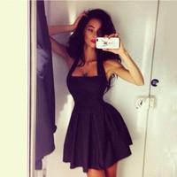 Europe And The United States Hot New Fashion Women S Dress Hanging Dress Sleeveless Sexy Mini