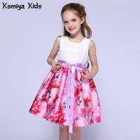 Kseniya Kids Designer Summer White And Pink Girls Dresses For Party And Wedding Children Clothes Baby Girl Dress 2 To 12 Years
