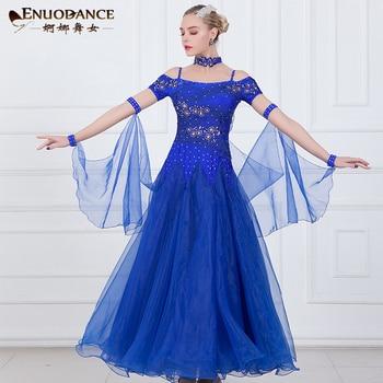 ae79190a Nowy towarzyskiego waltz nowoczesne sukienka do tańca suknie na konkurs  tańca towarzyskiego standardowy ballroom dancing ubrania tango sukienka ...