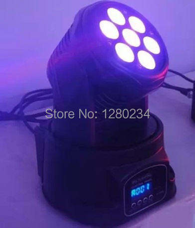 Hot sale 7*10w full color RGBW led mini moving head wash stage lighting effect led bar light for club disco decorations holiday color club цвет 1031 surprise page 7