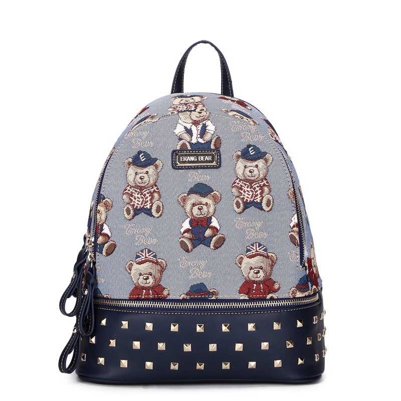 High Quality women's backpack Fashion Rivet School Backpacks High grade Canvas Backpack Teenage Girls School Travel Bags high quality anime death note luminous printing backpack mochila canvas school women bags fashion backpacks for teenage girls