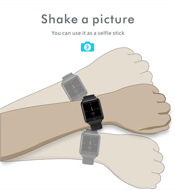 Q9 Smart Watch Blood Pressure Heart Rate Monitor IP67 Waterproof Sport Fitness Trakcer Watch Men Women Smartwatch