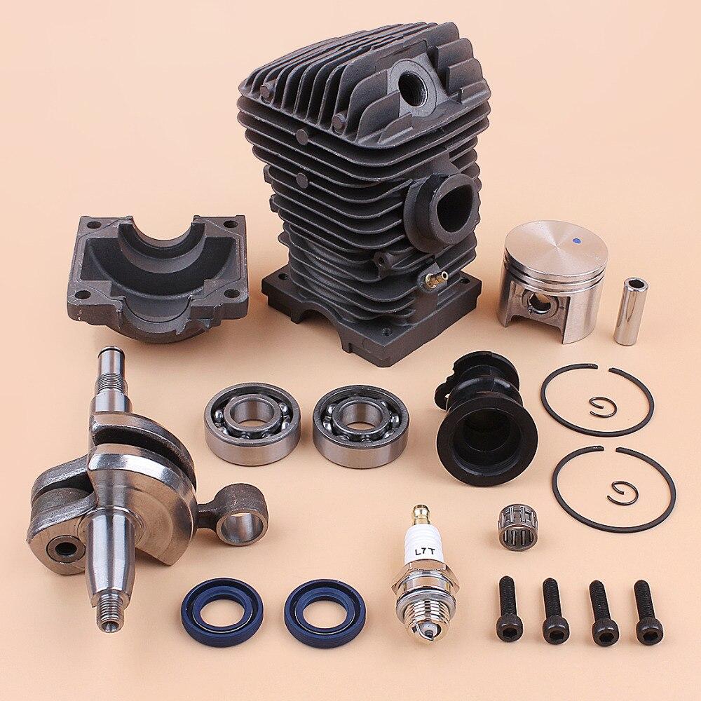 Engine Motor Cylinder Piston Crankshaft Bearing Kit For Stihl 023 025 MS230 MS 250 MS 250 MS 230 42.5mm Gas Chainsaw Rebuild Set