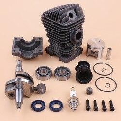 Motor del Motor de pistón del cilindro del rodamiento del cigüeñal Kit para Stihl 023 025 MS230 MS 250 MS 250 MS 230 de 42,5mm juego de reconstrucción de motosierra de Gas