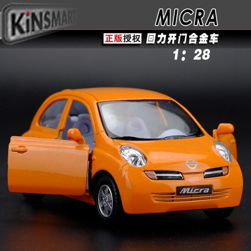marca nuevo nissan micra kingsmart escala diecast metal tira del coche modelo de