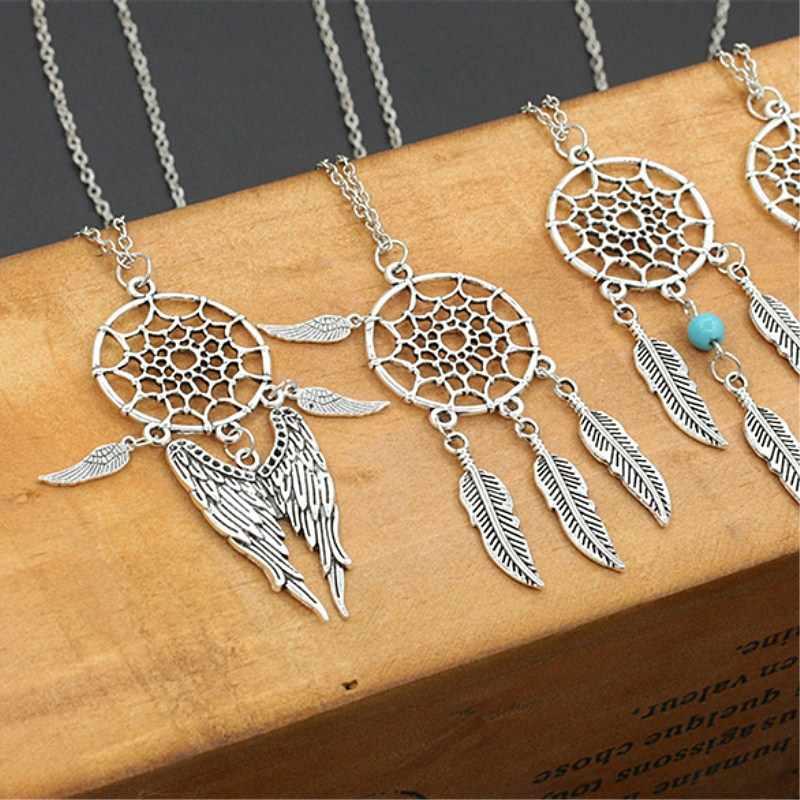 العصرية زاك قلادة ماندالا لوتس القلائد ffor النساء Vintage ريشة الذهب حلم الماسك مجوهرات اكسسوارات الحفلات