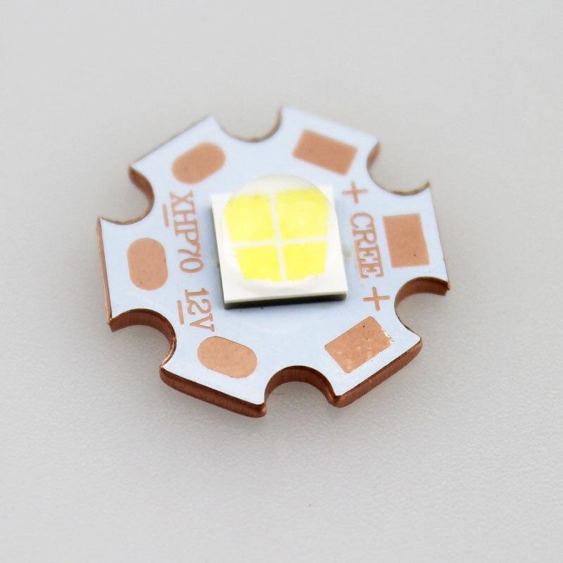 32 Вт 12 В CREE <font><b>xhp70</b></font> N4 6500 К холодный белый 4022lm светодиодный излучатель с 20 мм Медь Отопление Star