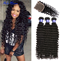 7a Brazilian Deep Wave With Closure Wet And Wavy Virgin Brazilian Hair With Closure Brazilian Virgin Hair With Closure