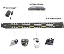 16 ميناء محول تغذية الطاقة عبر شبكة إيثرنت 802.3af/في بو لوحة 100Mbps 48 فولت 24 فولت ل كاميرا تلفزيونات الدوائر المغلقة IP الهاتف MikroTik الملحقات
