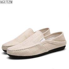 ee3246ba2 AGUTZM Verão Homens Sapatos De Cânhamo Alpercatas Designer Ultraleve  Respirável Barco Sapatos Casuais Homens Mocassins Preguiçosos