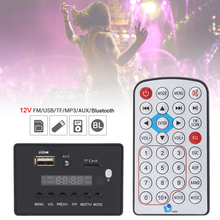 цена на 12V DTS Bluetooth Car Audio Video Player Decoder Board USB TF AUX FM Radio MP3 MP4 MP5 Player with Remote Control for Cars
