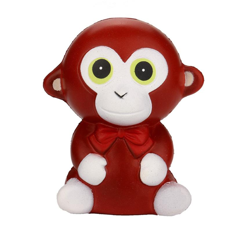 2018 Hot Sale Skuishy Monkey Cream Bread Scented Slow Rising Toys Phone Charm Gifts Fun Kids Kawaii Toy Stress 6.11