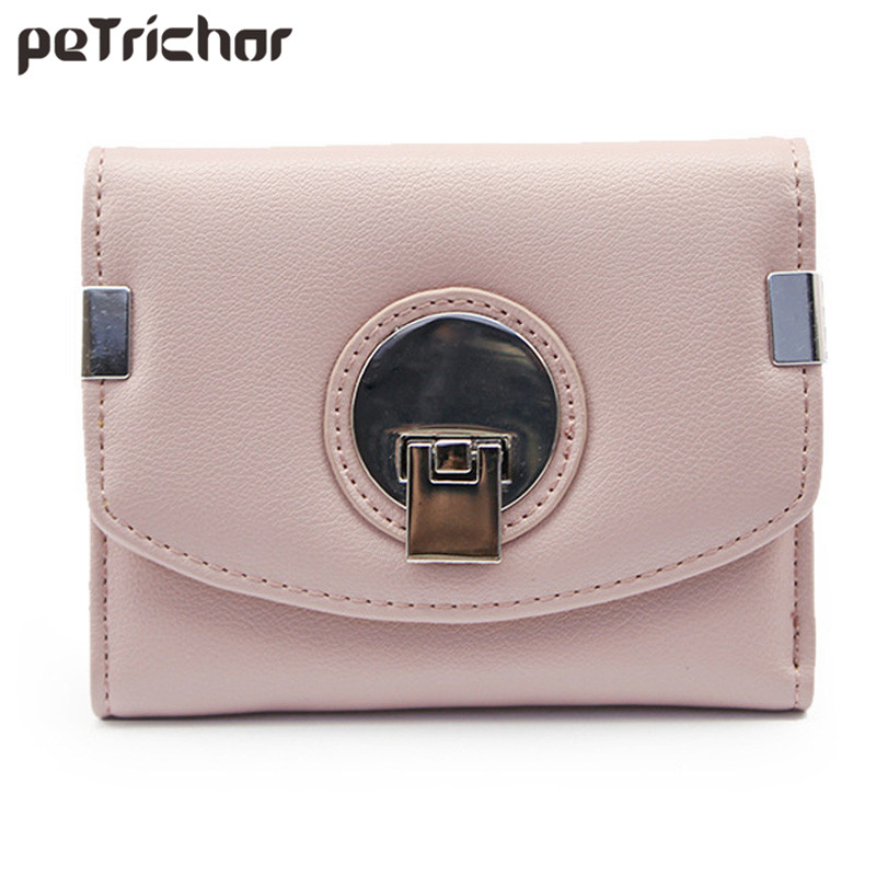 Fashion Short Women Leather Wallet Geometric Hasp Ladies Wallets Design Small Clutch Coin Pocket Card Holder Money Bag casual weaving design card holder handbag hasp wallet for women