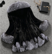 New Design 2016 Fashion Winter Women Faux Fox Mink Fur Coat Woman Luxury Medium Long Fake Fur Coats Mujer Female Faux Fur Coat