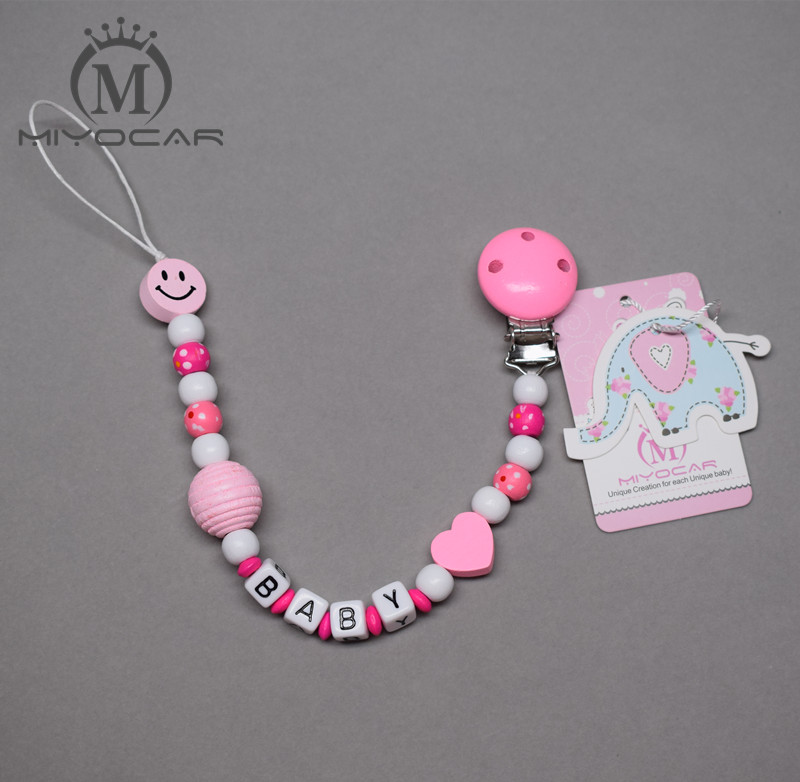 Personalized Name Princess Baby Pacifier Clip
