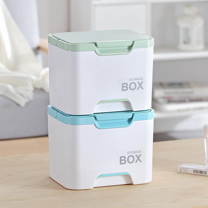 050 Multi function Portable multi layer partition sealed box with large capacity drawer storage box Medicine chest 25 18 19cm in Storage Boxes Bins from Home Garden