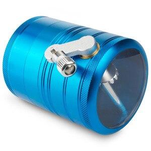Image 2 - Formax420 4 Pieces 2.0 Inch Metal Grinder Spice Mill Blue Mechanical Handle Grinder