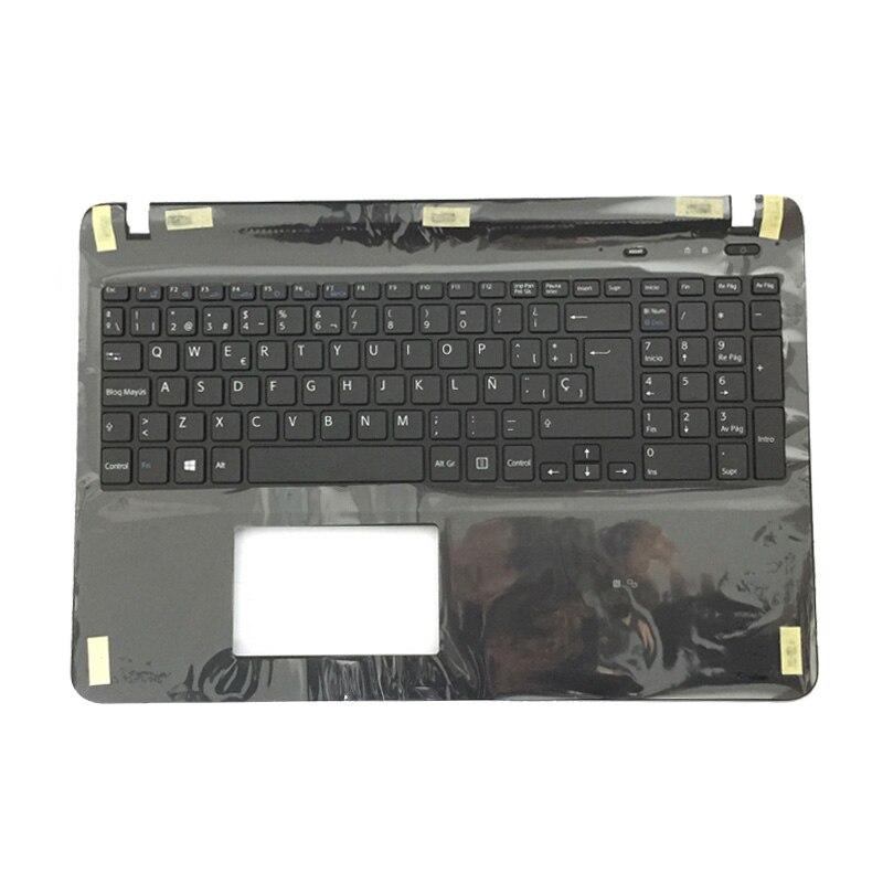 Nouveau clavier dordinateur portable espagnol Latin pour sony SVF152A29W SVF1521GSAW SVF1532BCXW SVF152A29W clavier SP noir avec couvercle de PalmrestNouveau clavier dordinateur portable espagnol Latin pour sony SVF152A29W SVF1521GSAW SVF1532BCXW SVF152A29W clavier SP noir avec couvercle de Palmrest
