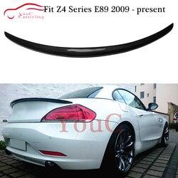 Z włókna węglowego tylny Spoiler bagażnika wargi Splitter dla BMW Z4 E89 2-drzwi cabrio 2009-2016 lampa bagażnika samochodu boot Lip Spoiler skrzydło