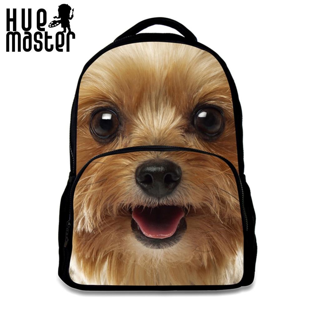 HUE MASTER dog print felt school backpacks for boy girl 17 inch leisure felt backpacks boy girl student bag school shoulder bags hue starterkit