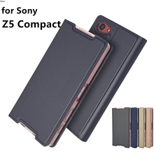 Phone Case for Sony Xperia Z5 Compact Z5 Mini Flip Cover Phone Case Magnetic adsorption Super thin Matte Touch