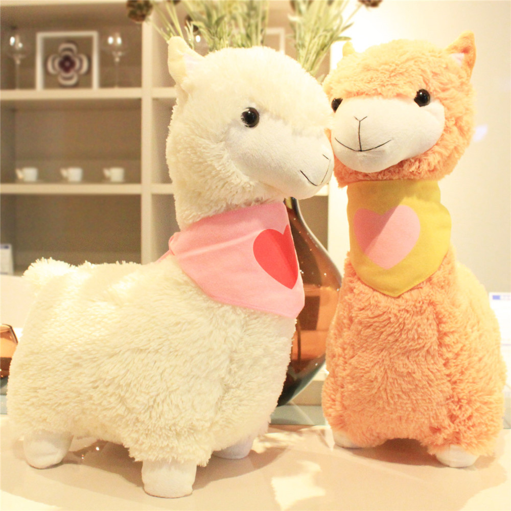 Fancytrader peluche douce alpaga bigpeluches animaux mouton poupée 45 cm une pièce cadeaux pour les enfants