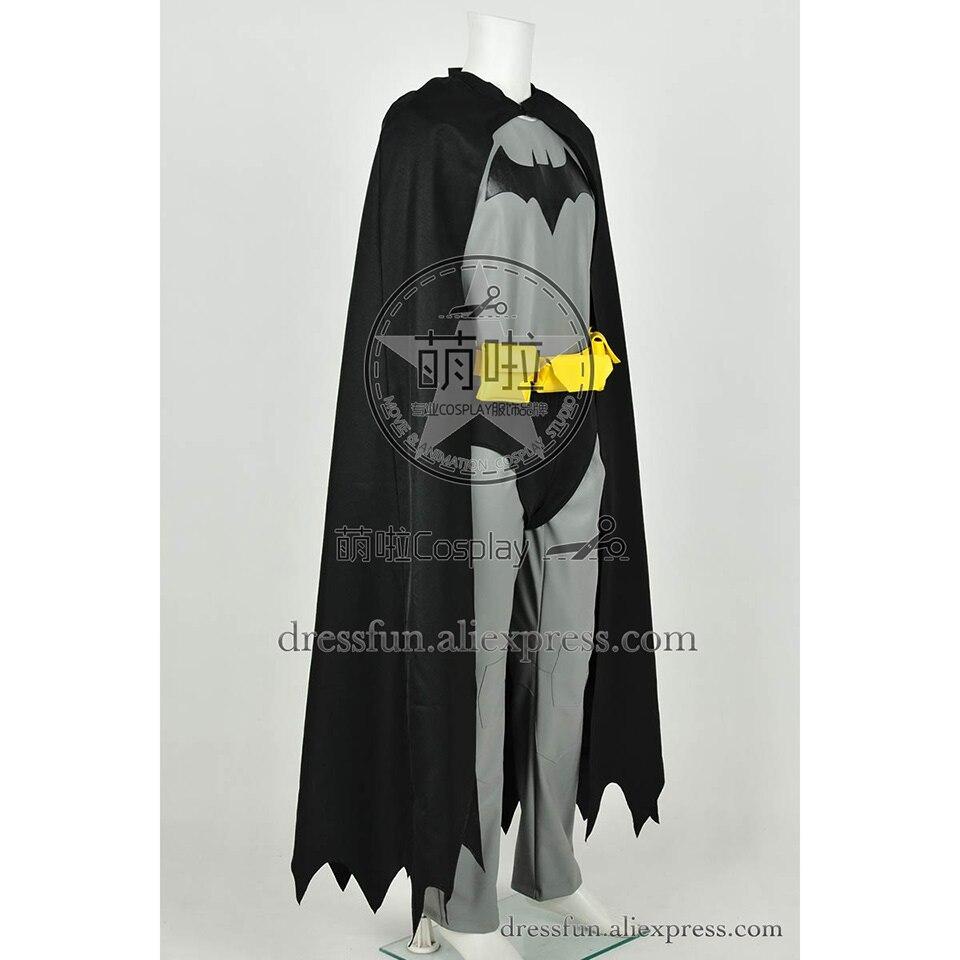 The Dark Knight Cosplay Bruce Wayne Costume Leather Version Jumpsuit Cape