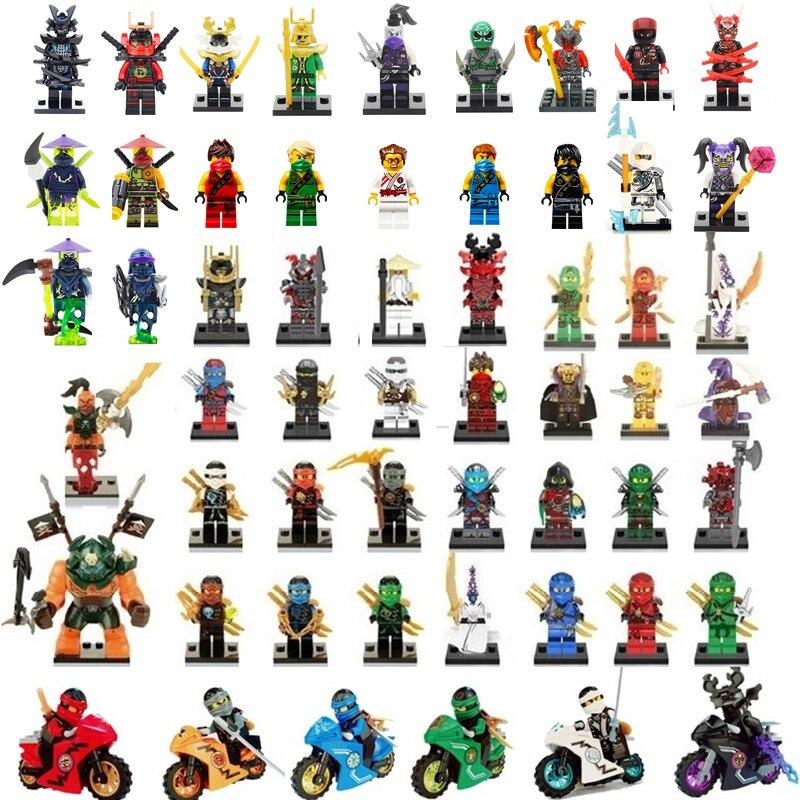 Compatible NinjagoINGlys Sets NINJA Heroes Kai Jay Cole Zane Nya Lloyd With Weapons Action Toys For Children