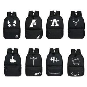 Image 2 - 2019 School Backpacks For Teenage Boy Girls Luminous Cartoon Bag Schoolbag Bag For Teenagers Student Cute Cat Backpack to School