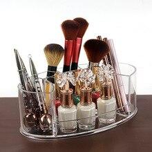 Acrylic Transparent Makeup Organizer Lipstick Nail Polish Brush Organizador Labiales Storage of Cosmetics