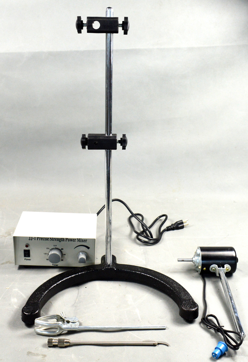 New 110V 220V 40W Electric Overhead Stirrer Mixer Variable Speed Height Adjustable Drum Mix Biochemical Laboratory