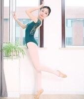 Pure Color Lace Adult Gymnastics Leotard Women Girls Ballet Dance Training Dresses Lady Ballerina Costumes For