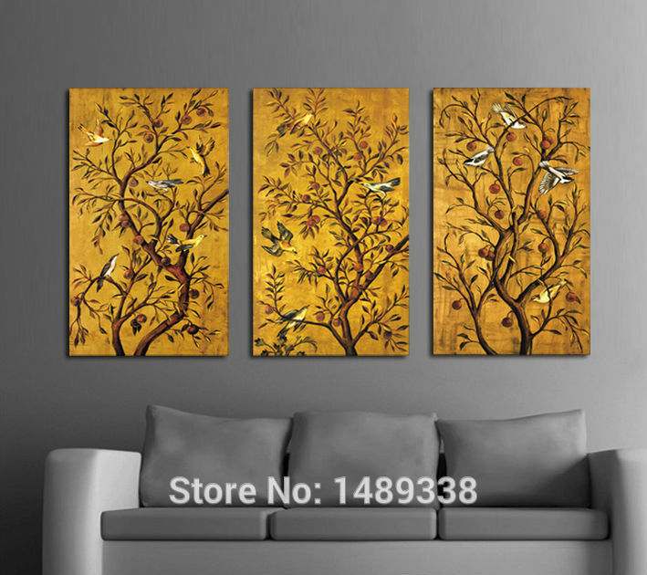Attractive 3 Panel Framed Art Wall Print Painting Large Art HD Picture Home Decoration  For Living Room Modern Tree Oil Painting F/329 In Painting U0026 Calligraphy  From ...