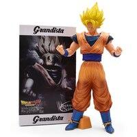 35cm Dragon Ball Z Banpresto ROS Resolution Of Soldiers Grandista Collection Figure Super Saiyan Son Goku Gokou Free Shipping