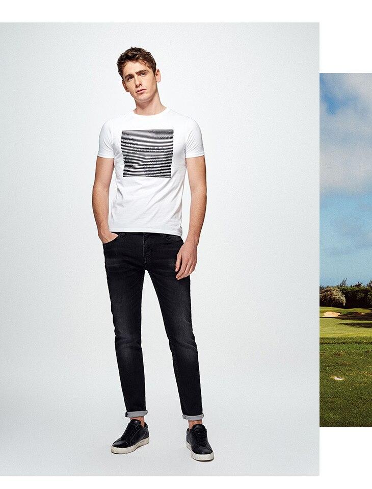 HTB1x6FDA7CWBuNjy0Faq6xUlXXag - SELECTED  cotton round collar short-sleeved T-shirt C|4182T4593