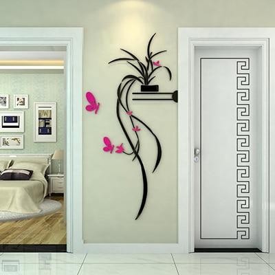 Acrylique 3 d stickers muraux classique usine style de - Stickers couloir maison ...