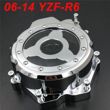 For 06-14 Yamaha YZFR6 YZF R6 YZF-R6 Engine Stator Crank Case Cover Engine Guard Side Shield Protector 2006 2007 2008 2009-2014 все цены