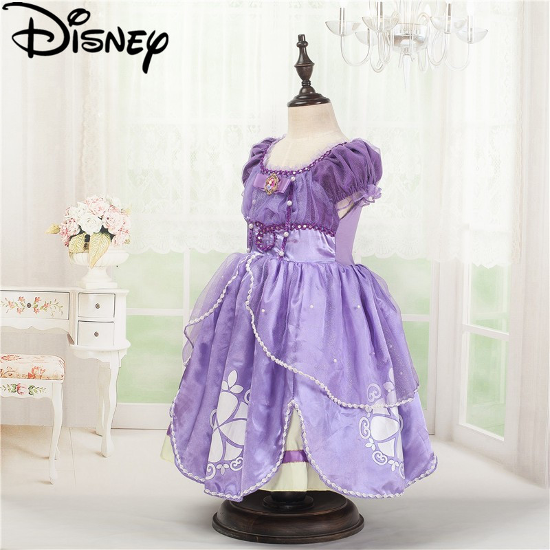 Disney frozen vestido princesa traje mullido princesa Sophia ...