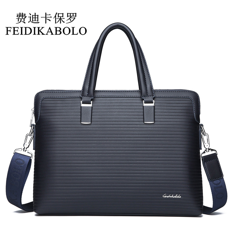 FEIDIKABOLO New Fashion Men Crossbody Business Bag Male Stripes High Capacity Computer Bag Leisure Shoulder Messenger Bags Man