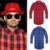 Hombres de Hip Hop Camisa Chris Brown de Oro de gran tamaño Cremallera Lateral Ampliado camisa de tela escocesa ocasional Azul Rojo de manga Larga tee shirt Tyga XXL