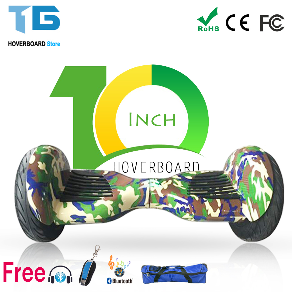 Self Balance Scooter Hoverboard Skateboard Two Wheel Smart Bluetooth Remote 10 Inch Monocycle Gyroscooter EU And