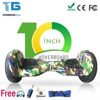 Własna Bilans Skuter Hoverboard Deskorolka Dwa Koła Inteligentny Bluetooth Remote 10-calowy Monocykl Gyroscooter UE I Rosji Stock